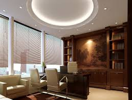 latest office design. Interior, Wonderful Lighting On Nice Ceiling Inside Office Interior Design With Two Chair Cute Latest I