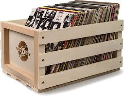 vinyl record furniture. Crosley Rustic Wooden Record Storage Crate - Natural: Amazon.co.uk: Audio \u0026 HiFi Vinyl Furniture