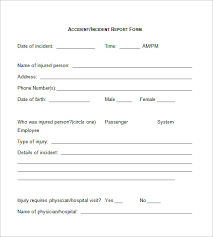 Hotel Incident Report Form