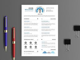 Free Clean Infographic Psd Resume Template By Stevo Wu Dribbble