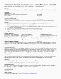 13 Entry Level Electrical Engineering Resume My Blog