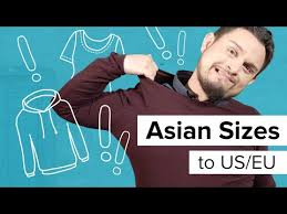 Asian Size Chart Shirt Convert Asian Sizes To Us Sizes Asian Size Conversion Chart