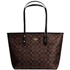 New Authentic COACH Beautiful Signature Monogram C Tote Shoulder Bag in  Brown Black