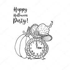 Boek Kleurplaat Voor Halloween Stockvector Ilonitta 116716920
