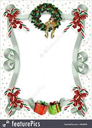 templates christmas border traditional stock illustration image and illustration composition for christmas card background party invitation template border or frame candy canes wreath ribbons presents