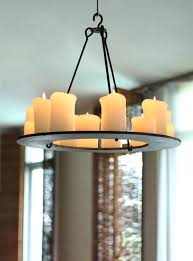 by collection pillar candle chandelier diy full size