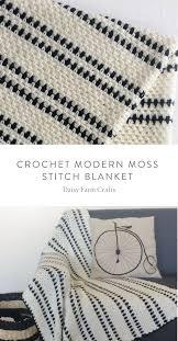 Modern Crochet Designs Crochet Modern Moss Stitch Blanket Crocheting Crochet