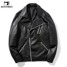 2019 kenntrice black quilted biker leather jacket mens winter leather jackets double zipper punk hip hop male jackets from lvyou09 76 48 dhgate com