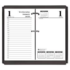 daily page calendar economy daily desk calendar refill 3 1 2 x 6 2020