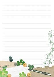 Design Paper For Writing FREE Stationery printable designed in PSE briefpapier writing 1