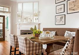 dining room banquette furniture. This Large Table With Banquette And Chairs Serves As A Dining Area When The Homeowners Entertain. Shorter Side Of Has An Extra-deep Room Furniture S