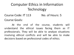 ppt computer ethics in information technology powerpoint  computer ethics in information technology