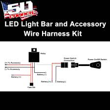 universal light bar 12v wire harness kit with 40 amp relay 30 amp Trailer Wiring Harness at Northern Lights Wiring Harness