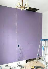 purple board drywall basement nest