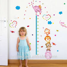Child Height Chart For Wall Sk9141 Height Chart Growth Monkey Elephant Kids Nursery Wall Sticker Room Home Tv Background Diy Decorative Removable Wall Decal Buy Height Chart