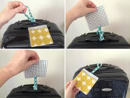 Home Away from Home: How to Sew a Luggage Tag & attach the tag to your luggage Adamdwight.com