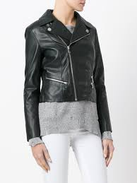 dondup cropped zip up jacket 999 women clothing leather jackets collezione jeans dondup