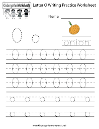 Kindergarten Letter O Writing Practice Worksheet Printable Family ...