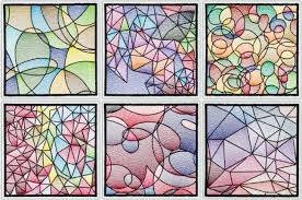 Abstract Patterns Extraordinary BFC48 Stained Glass Quilt SquaresAbstract Patterns