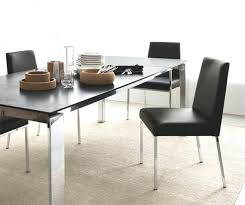 real leather dining chairs modern real or faux leather dining chair in black taupe or white