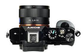 sony 35mm 2 8. the carl zeiss 2.8/35 is smallest native lens you can buy for a7 series. it still a bit too large to call pancake but comes close. sony 35mm 2 8