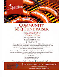 Bbq Fundraiser Flyer Join Us For A Bbq Fundraiser Community Living Toronto