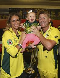 Candice Falzon, David Warner, Ivy Warner - Ivy Warner Photos - Australia v  New Zealand - 2015 ICC Cricket World Cup: Final - Zimbio