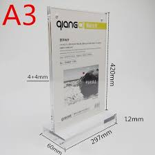A3 Display Stands 100pcslot A100 Acrylic Magnetic Desktop Display Stand Rack Acrylic 34