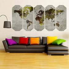 >grey green world wall art canvas map large canvas print art world  grey green world wall art canvas map large canvas print art world map art grey dark green world map art freeshipping perfect gift large canvas