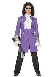 ... Adult Mens 1980s Deluxe Purple Prince Costume   Small To XXL