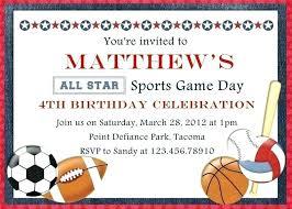 Free Football Invitation Templates Football Ticket Sports Invitation Template Day Samples