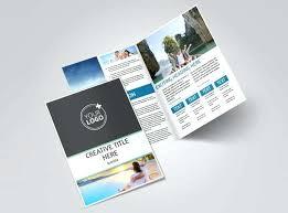 2 Folded Brochure Template Tourism Activities Bi Fold Brochure Template 2 A5 Tri Fold