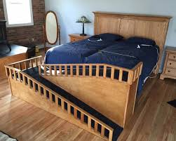 dog ramp for bed wood