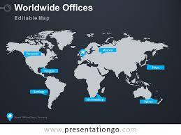 Worldwide Offices Powerpoint Worldmap Presentationgo