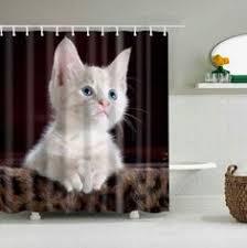 150x180cm Fabric <b>Bathroom Shower</b> Curtain Apricot Print w/ 12 ...