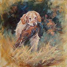 Sporting Dogs - Painting Art by Peggy Watkins
