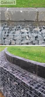 gabion wall with stone capping detail http://www.gabion1.co.