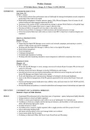 Pr Resume Examples PR Executive Resume Samples Velvet Jobs 41