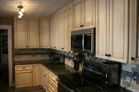 Dark Granite Kitchen Light Cabinets Dark Countertops
