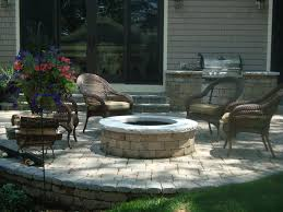 patio with fire pit and grill. Exellent Fire An Outdoor Kitchen And Fire Pit Will Be A Huge Hit At Your Summer Barbecues For Patio With Fire Pit And Grill L