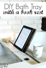 bathtub caddy modern bath tray with book rest