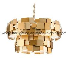 metallic chandelier with mixed colors shades whp 0060b