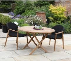 teak bristol round folding table 90 cm 120 cm