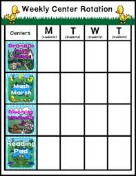 Preschool Center Signs And Rotation Chart