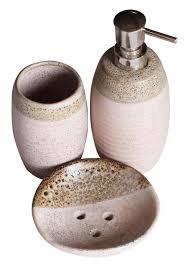 Handmade Bathroom Accessories Wholesale Handmade Ceramic Bath Accessories Set 3 Items Hand