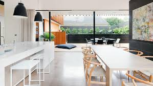 Kitchen And Living Room Flooring Open Kitchen Living Room And Dining Area Carameloffers