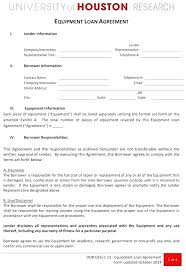 Company Loan To Employee Agreement Equipment Use Agreement Template Internal Service Level Form