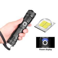 Giảm 36 %】 ĐÈN LED XHP50 Kính Thiên Văn Tập Trung Đèn Pin Cao Cấp Ánh Sáng Đèn  Pin với Màn Hình Hiển Thị Công Suất