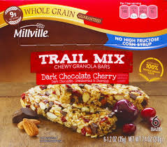 aldi millville trail mix chewy granola bars snack review
