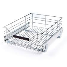 Shelf & Cabinet Sliding Drawer Organizer Metal Pull Out Storage Wire Basket  Bin 628304134988 | eBay
